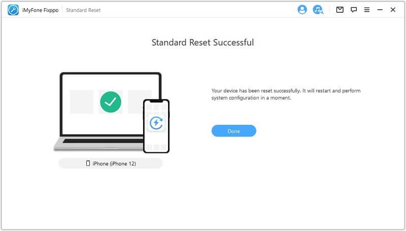 standard reset successful