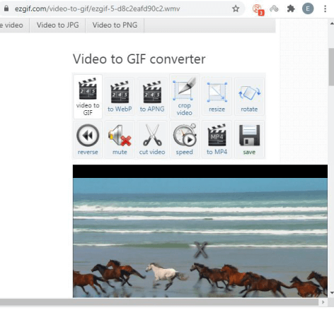 edit video in EZGIF