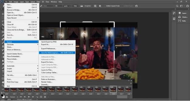 export files in photoshop