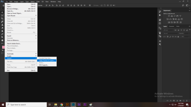 import files in photoshop