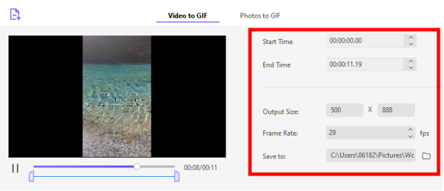 video to gif in uniconverter