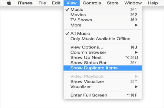 delete duplicate via itunes