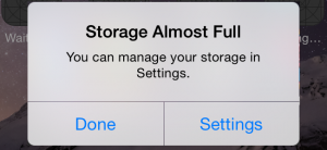 storage almost full