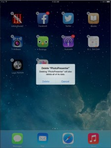 delete Apps on iPad