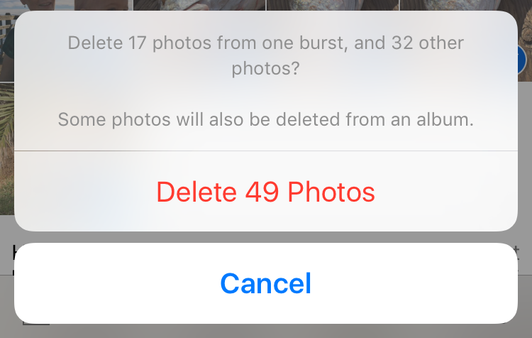 delete photos all