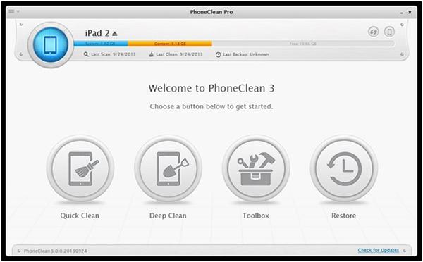 iPad clean tool
