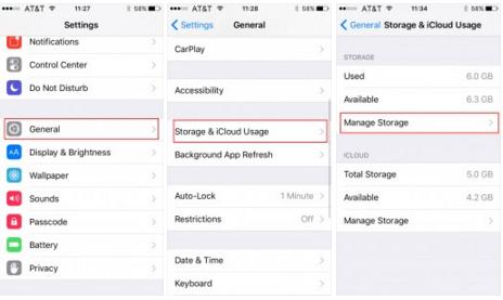 ipod manage storage