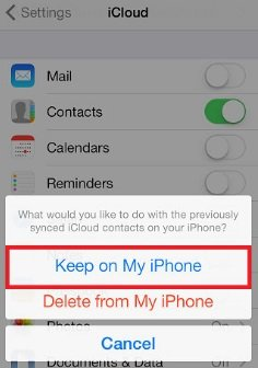 Re-Sync the iCloud Contacts