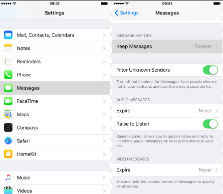 ios 7 delete messages