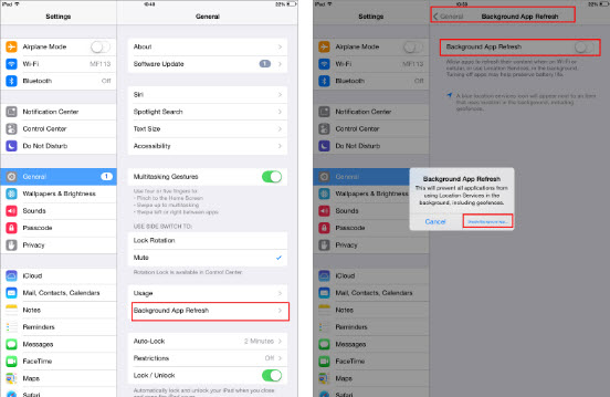iOS 10 issues on iPad