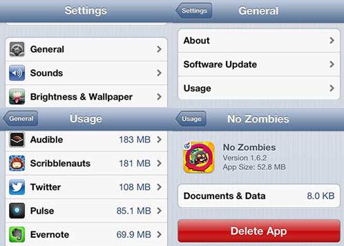 delete app ipad