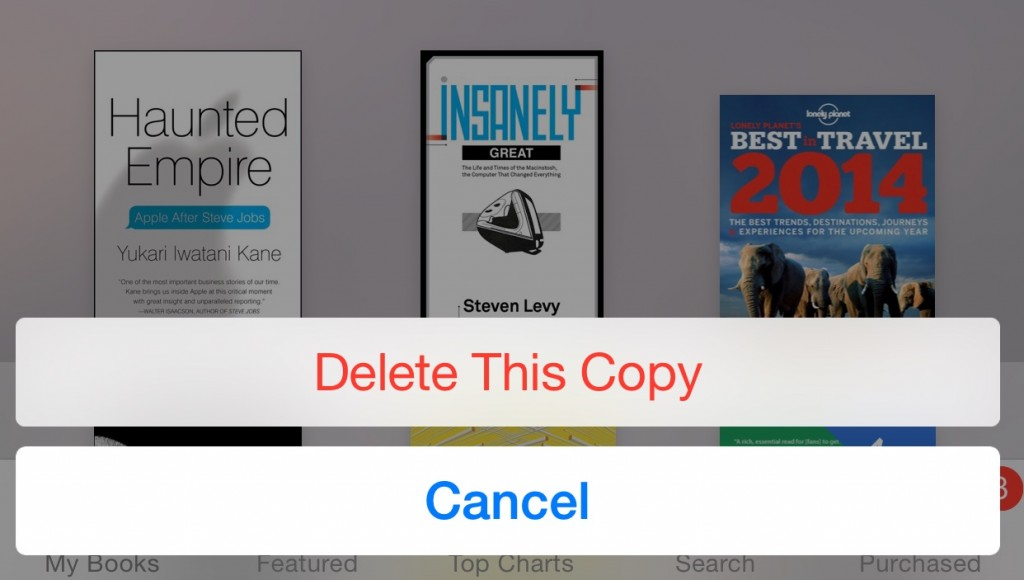 delete iBooks