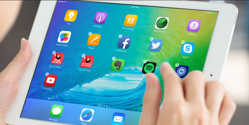 organize apps on ipad