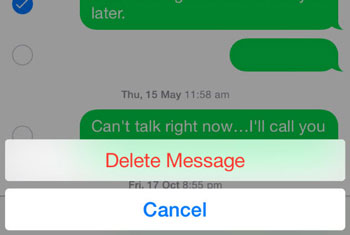 Delete iPhone message