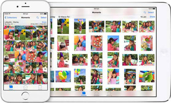 supprimer photos sur iphone