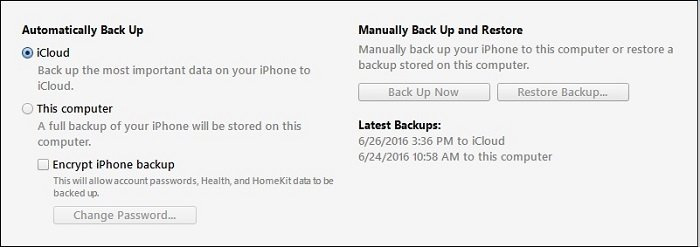 Back Up Text Messages on iPhone with iTunes