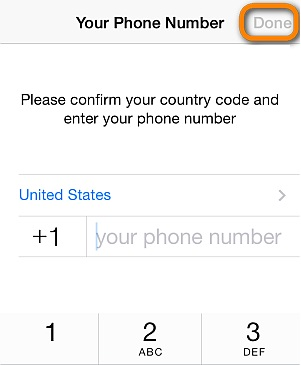 verifying that you are using the same phone number