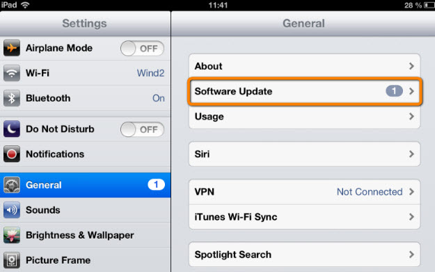update ios ipad
