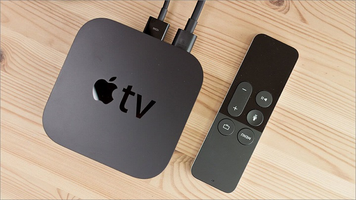 apple tv with plugs rotated