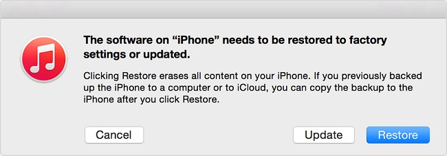 Restoring iPad to factory setting using iTunes