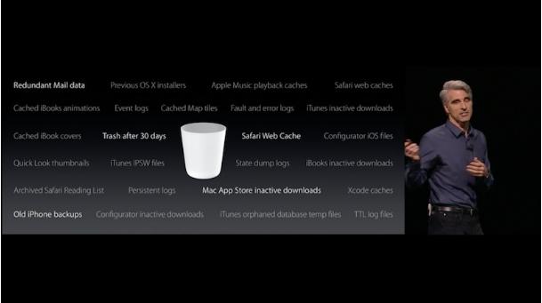 macOS Sierra optimized storage