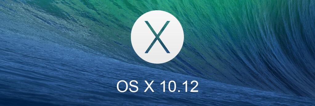 os X 10.12