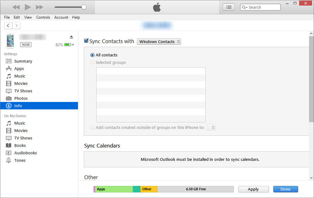 sync contatcs with windows contacts
