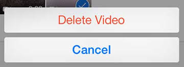 delete video on iphone manually