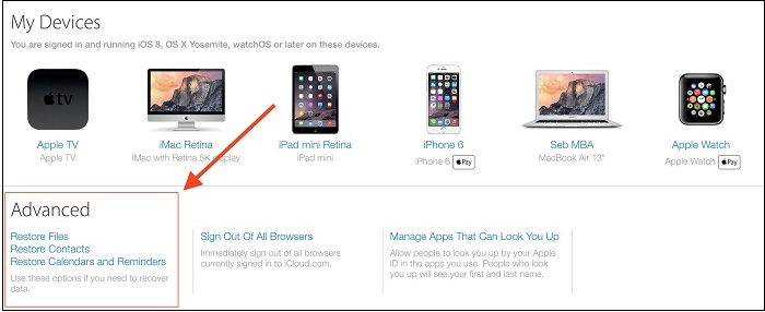 restore calendars from icloud to iPhone