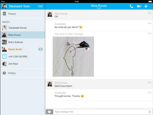 skype messages