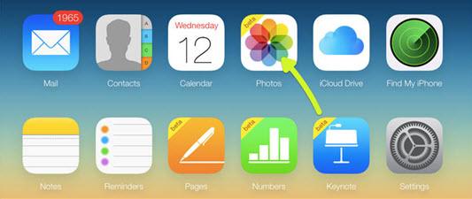 透過iCloud官網查看iCloud照片