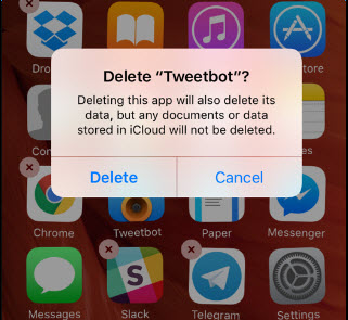 delete iphone app