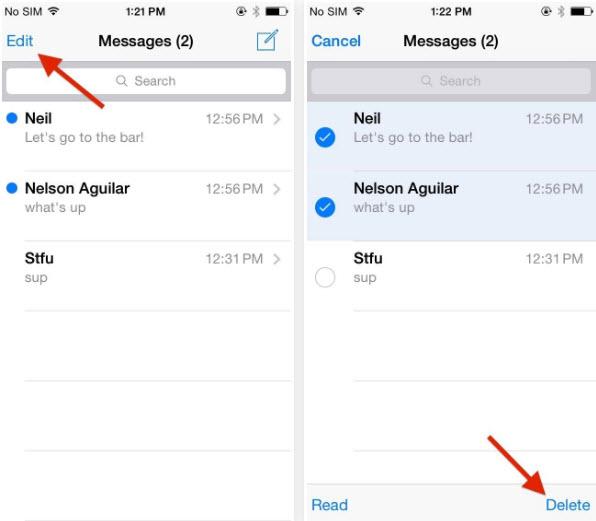 delete message conversation
