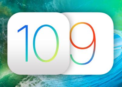 ios 10 vs ios 9