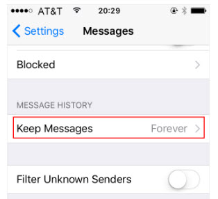delete messages