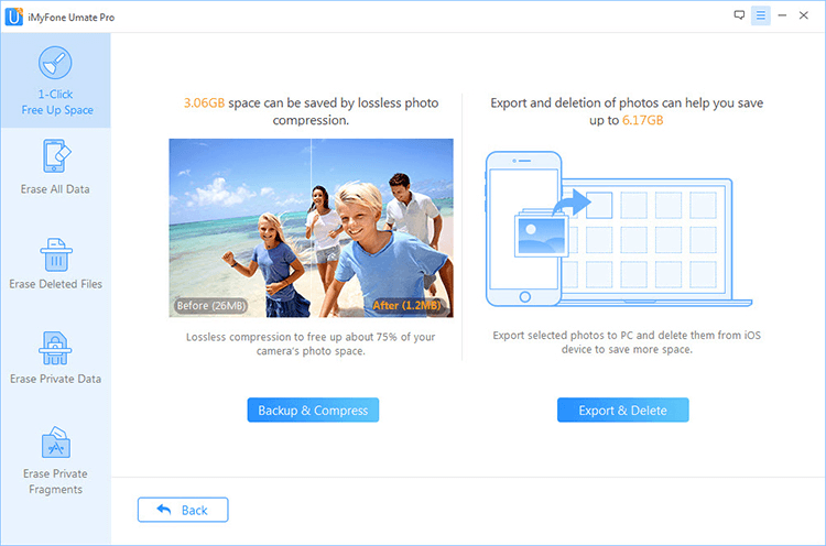 1 click backup photos to PC