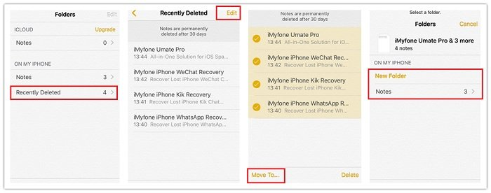 recover recently deleted notes on iphone