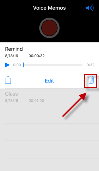 delete voice memo