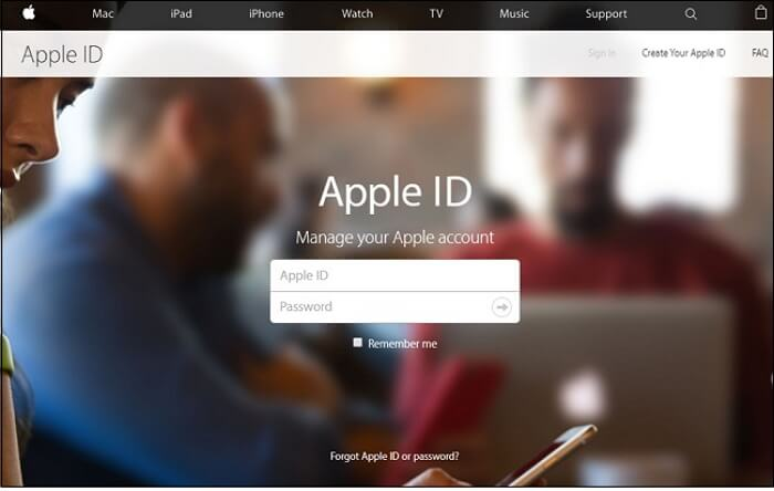 sign in using your Apple ID and current password