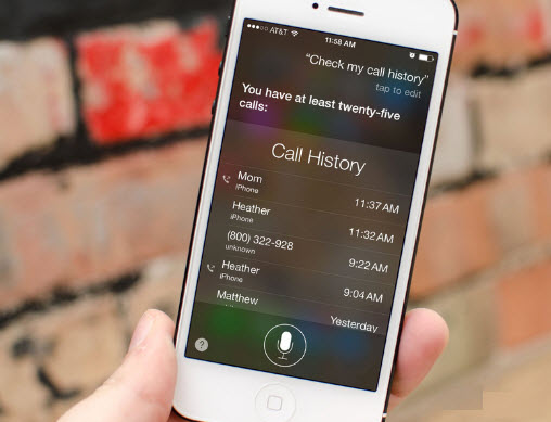 clear iphone call history