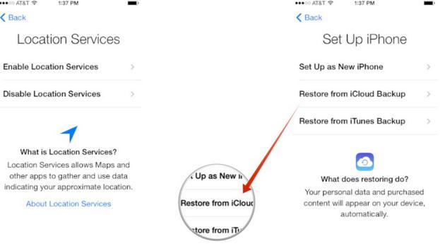 enter your iCloud login credentials