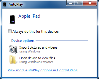 windows autoplay