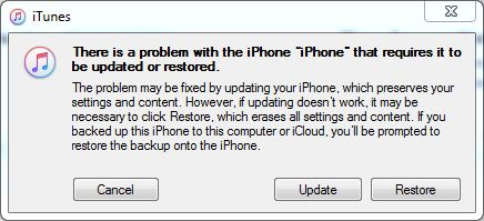 restore iPhone with iTunes or Finder