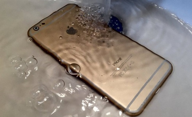 Get the iPhone out of water ASAP and power it off