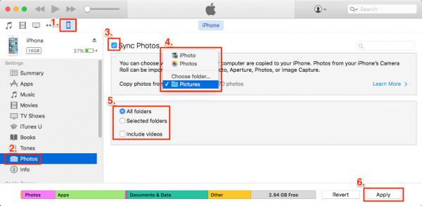 transfer iPad photo to pc via itunes e1481099296613