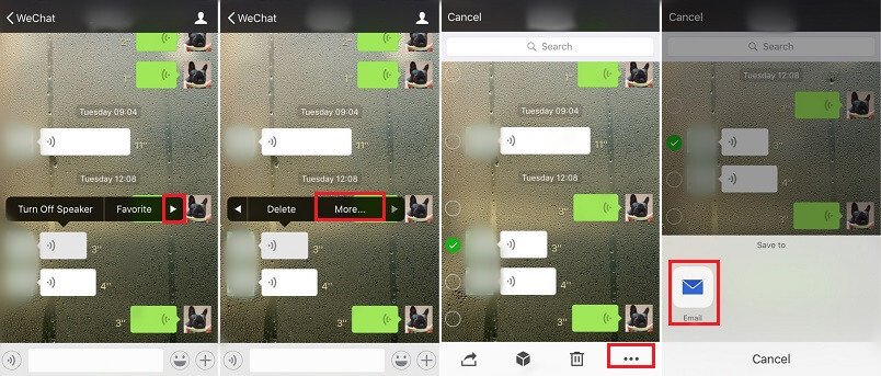 Save WeChat Audio Messages via Email