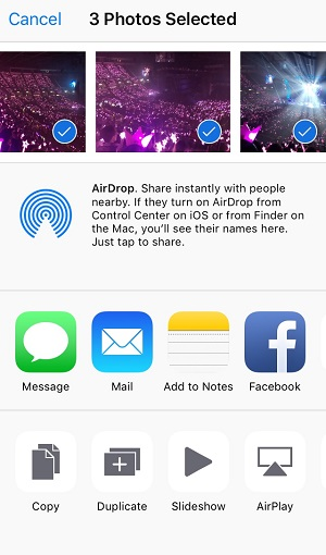 Transfer iPad photos via AirDrop