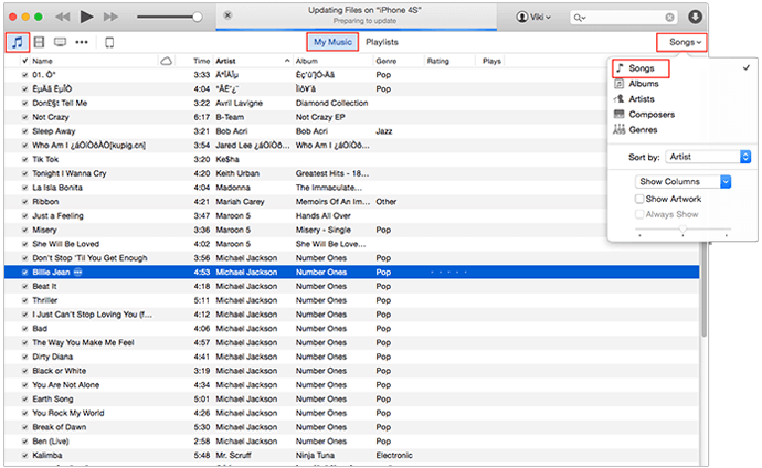 Delete Music from iPod/iPod touch with iTunes
