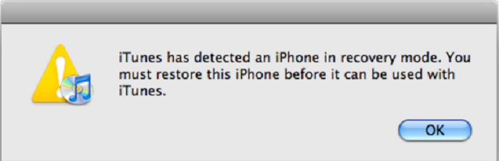 restore the iPhone through iTunes