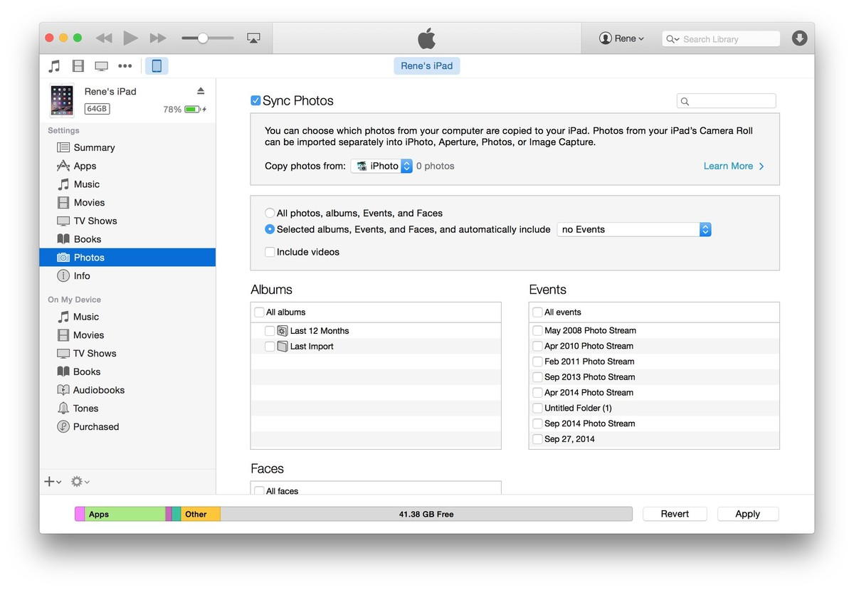 23 Transferring photos to itunes